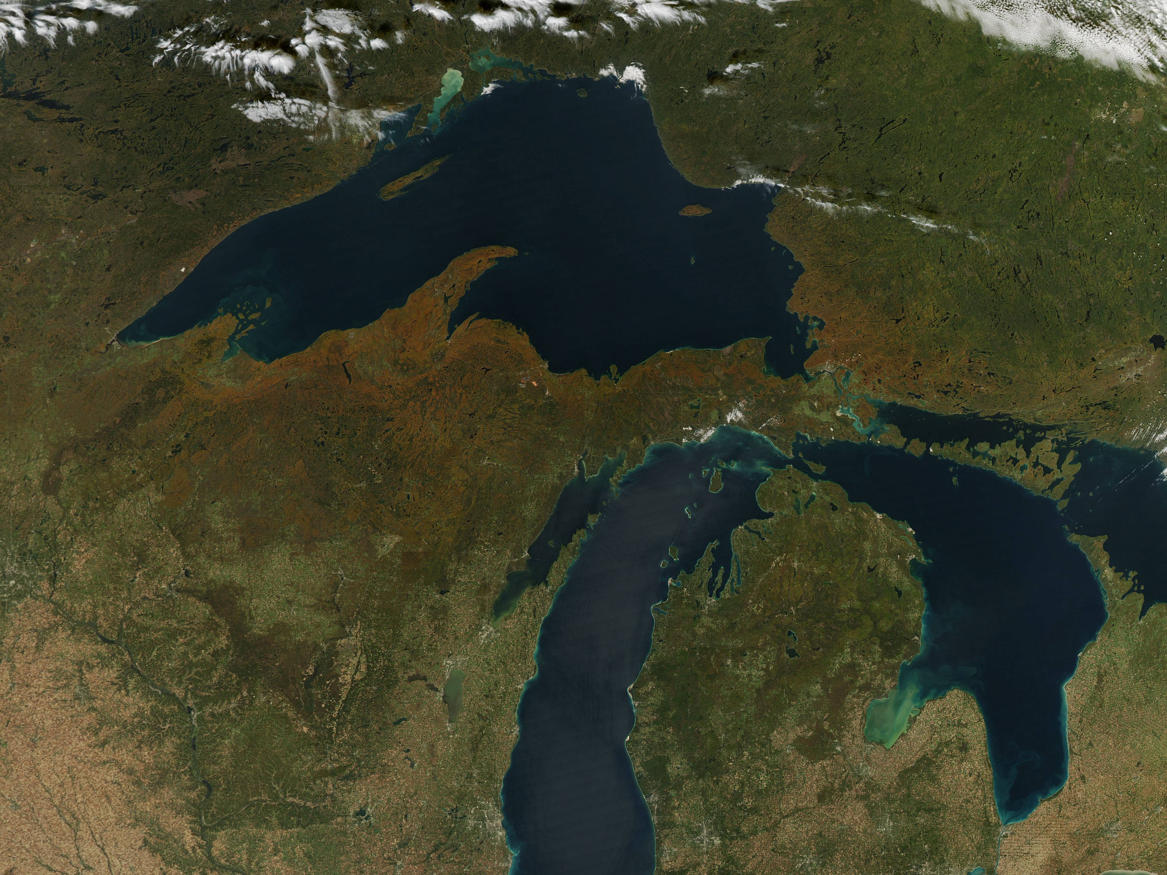 NASA Visible Earth Fall Color Arrives in the US and Canada