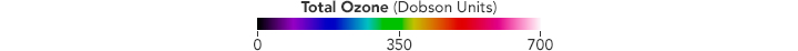 Color bar for Ozone Hole 2015