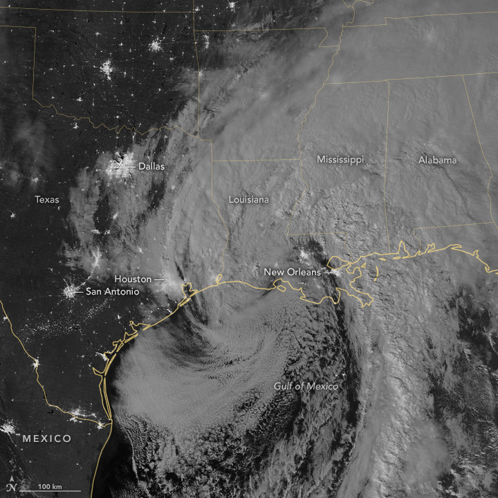 Remnants of Patricia Drench Texas and Louisiana