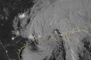 Remnants of Patricia Drench Texas and Louisiana - selected image