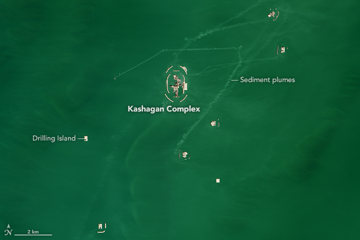 Kashagan Oil and Gas Field, Kazakhstan