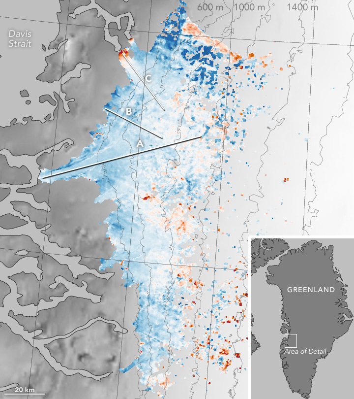 Slowdown of the Southwest Greenland Ice Sheet