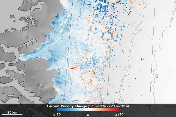 Slowdown of the Southwest Greenland Ice Sheet - related image preview