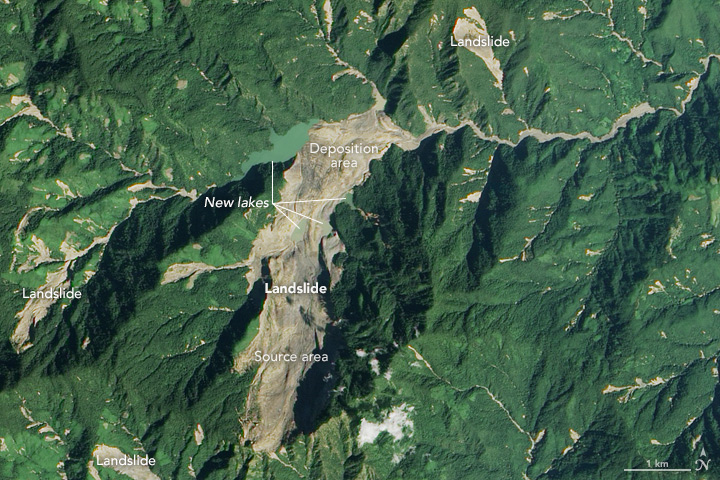 Satellite Spots Massive Tonzang Landslide - related image preview