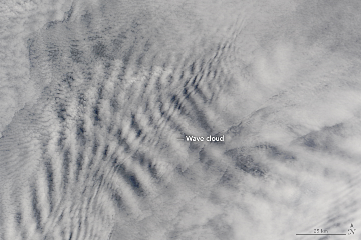 Cloud Wakes Behind the Prince Edward Islands