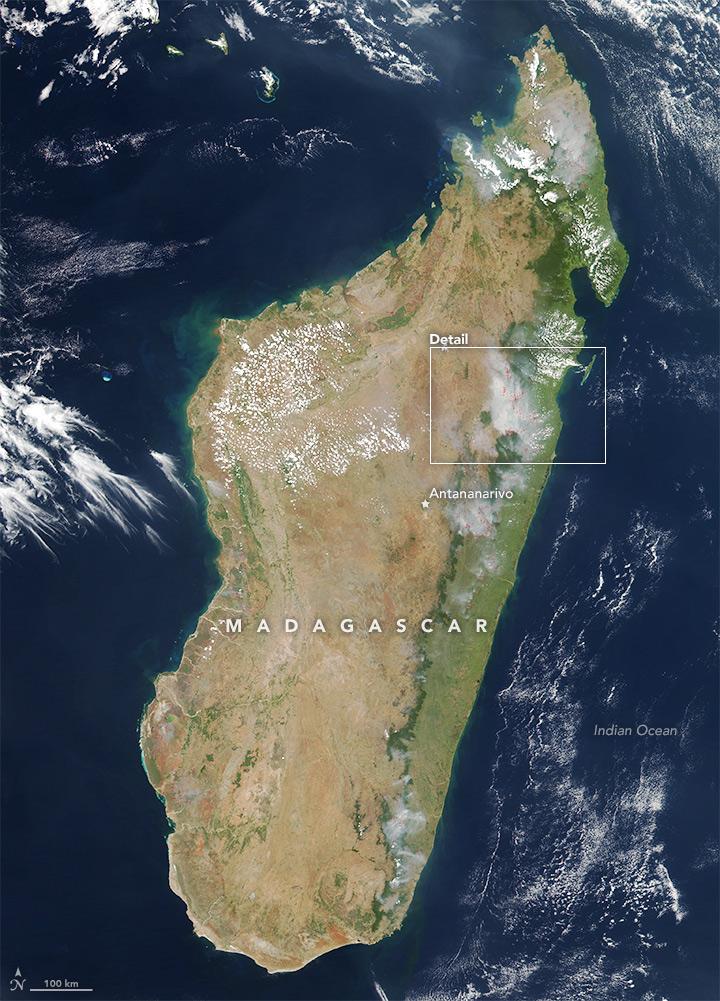 Fires Across Madagascar