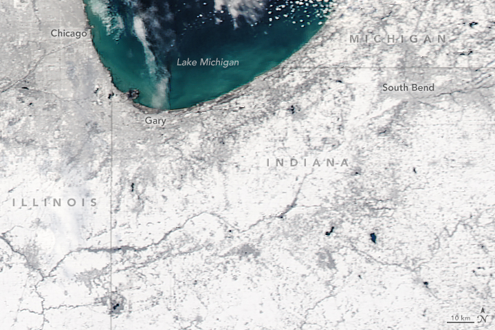 Record First Snowfall in the U.S. Midwest