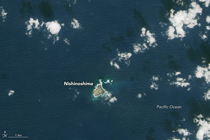 Volcanic Island in the Pacific Turns Two