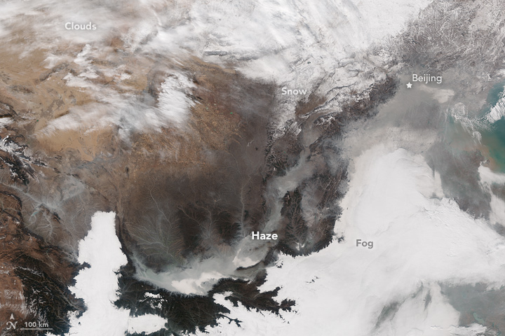 Haze Shrouds Eastern China