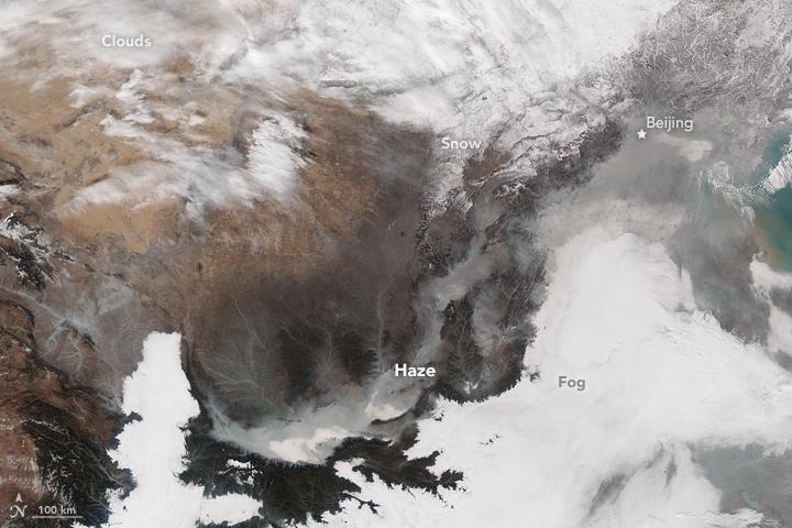 Haze Shrouds Eastern China