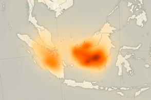 Fires Put a Carbon Monoxide Cloud over Indonesia