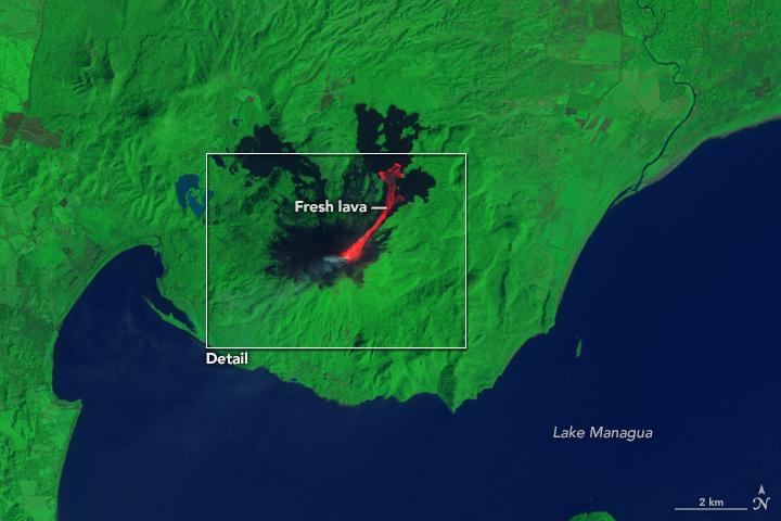 Letusan Gunung Api Momotombo Nikaragua