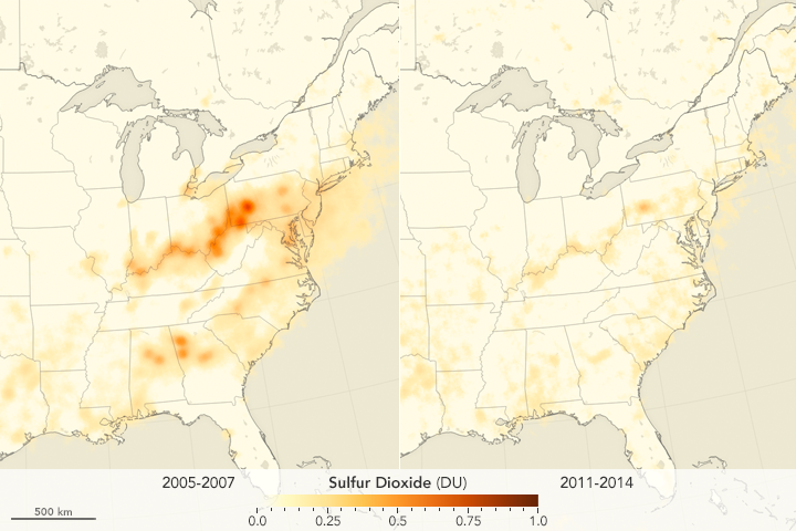 Sulfur Dioxide Down over the United States - related image preview