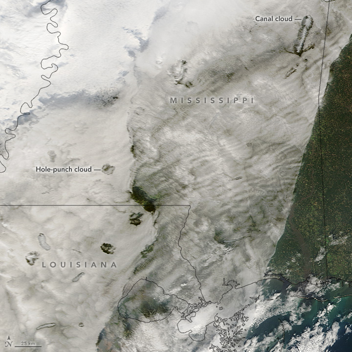 Hole-Punch Clouds over the Southeast