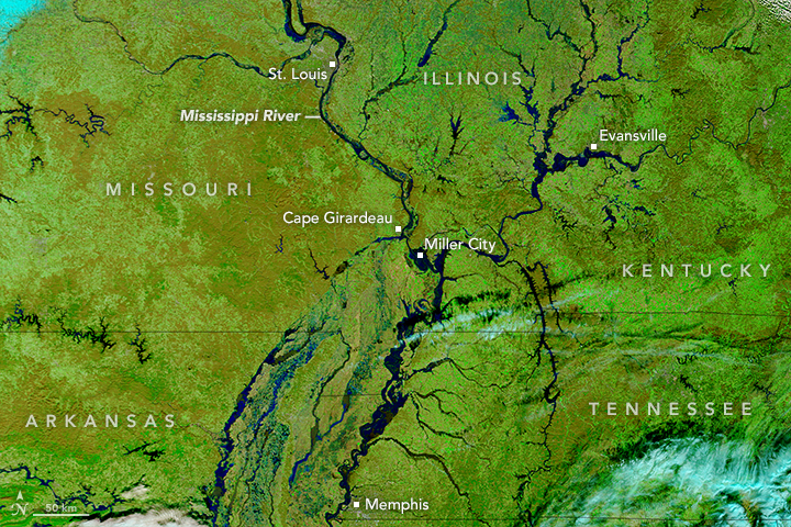 Unseasonable Flooding on the Mississippi River