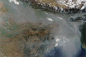 Haze over the Indo-Gangetic Plain
