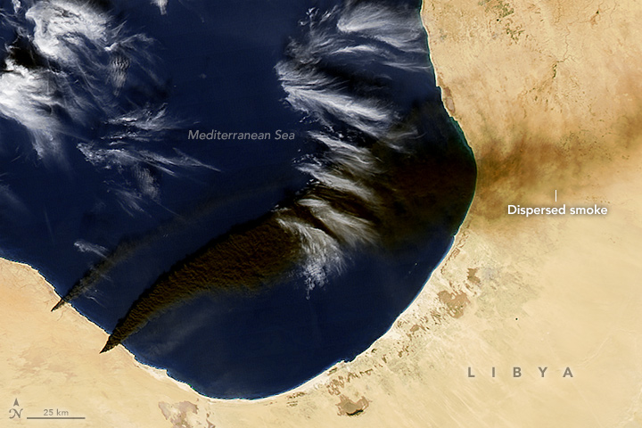 Oil Tank Fires in Libya