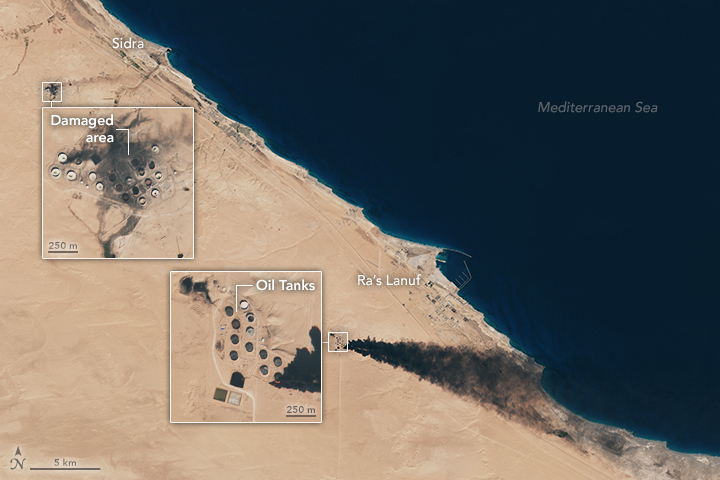 Oil Tank Fires in Libya - related image preview