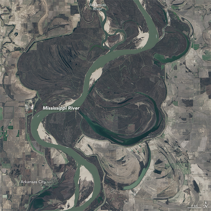 Flooding in Arkansas and Mississippi