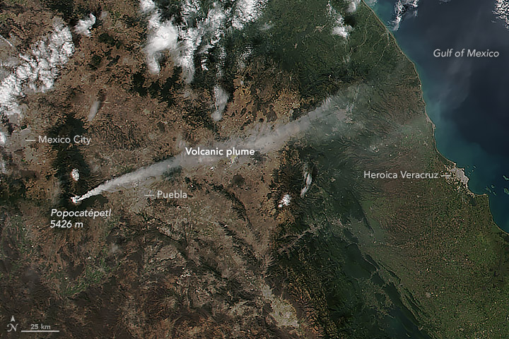 Volcanic Activity at Popocatépetl
