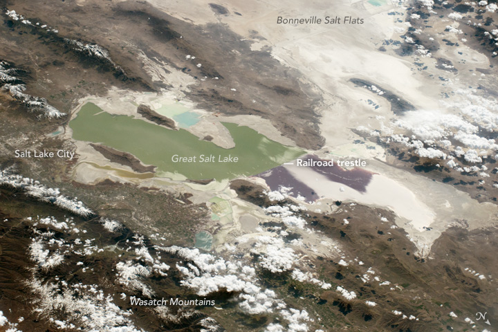 Great Salt Lake, Oblique View