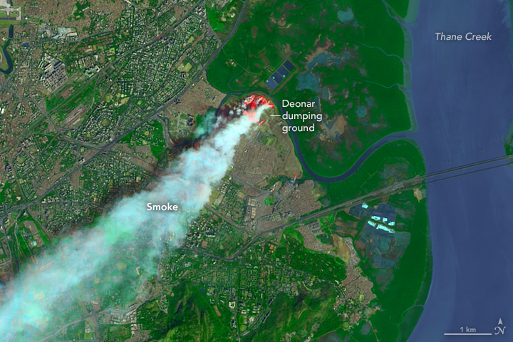 Fire Burns in Mumbai Landfill - related image preview