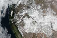 Snow Blankets the Western U.S.
