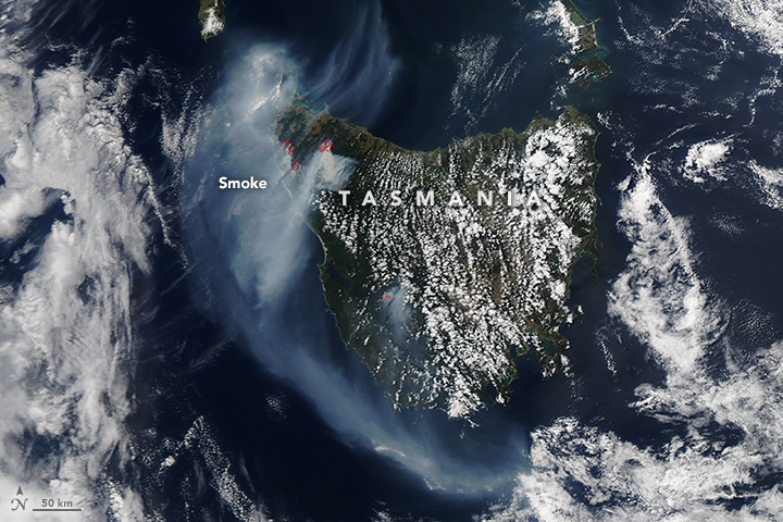 Fires Continue Burning in Northwestern Tasmania
