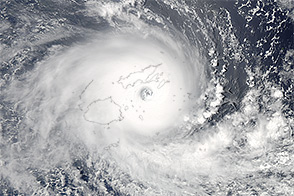 Tropical Cyclone Winston Slams Fiji