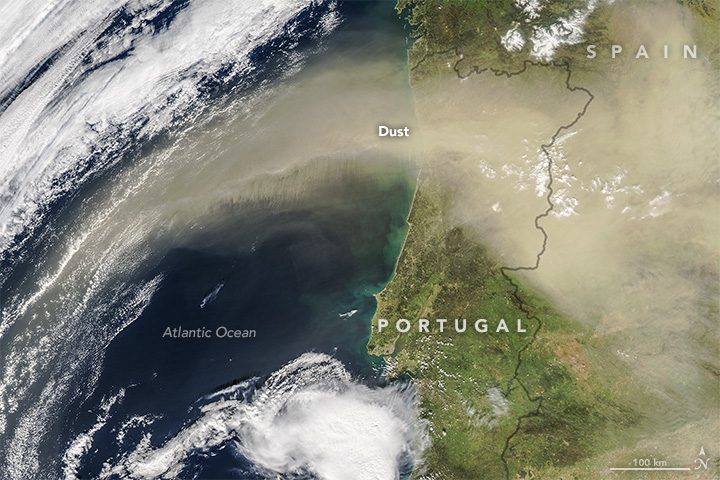 Saharan Dust Sweeps over the Iberian Peninsula - related image preview