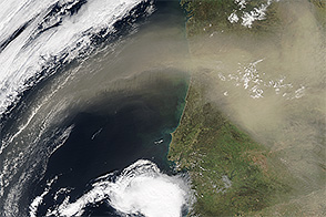 Saharan Dust Sweeps over the Iberian Peninsula - selected image