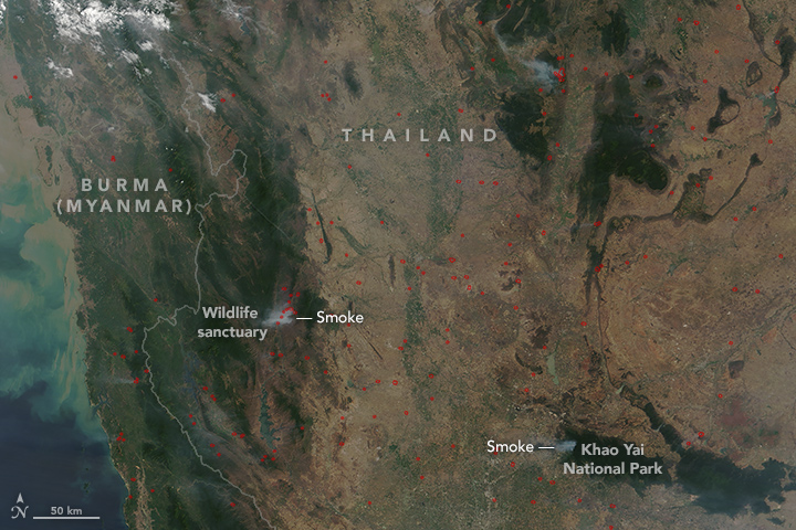 Fires in Thailand
