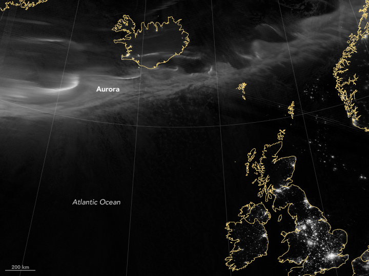 Aurora Colors Skies Over Northern Europe