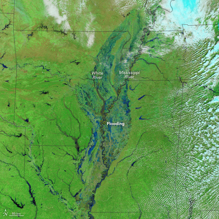Flooding in the U.S. South