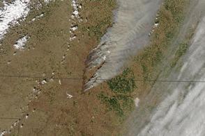 Grass Fires Char Kansas, Oklahoma