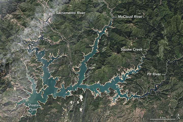 Water Levels Rise on Shasta Lake
