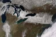Spring Snow Blankets the Northeastern United States