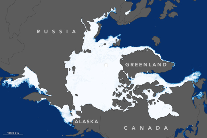Annual Peak of Arctic Sea Ice Hit a Record Low