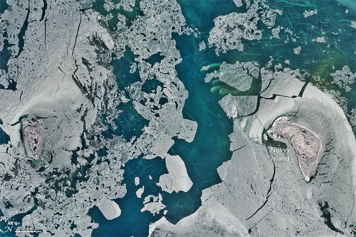 Ice Scours the North Caspian Sea