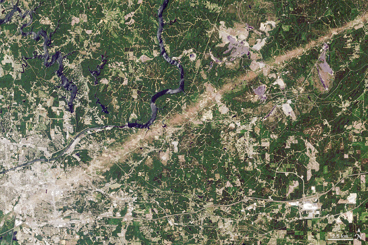 Tuscaloosa Tornado Track Fades