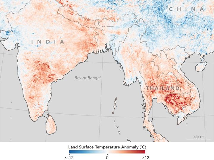 Heat Wave Hits Thailand, India