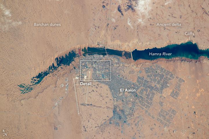 The Hamra River and El Aaiún