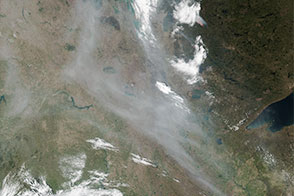 Smoke from Alberta Streams into the United States