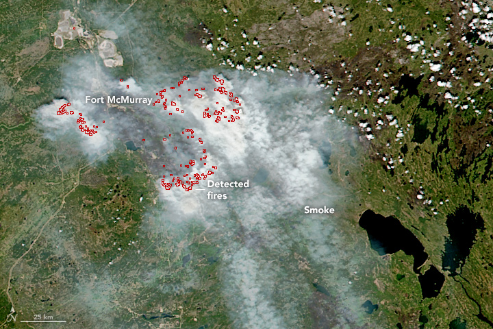 Wildfires Still Scarring Land Around Fort McMurray