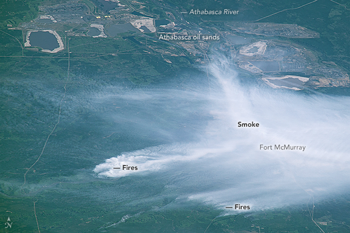 An Astronaut's View of the Fort McMurray Fire