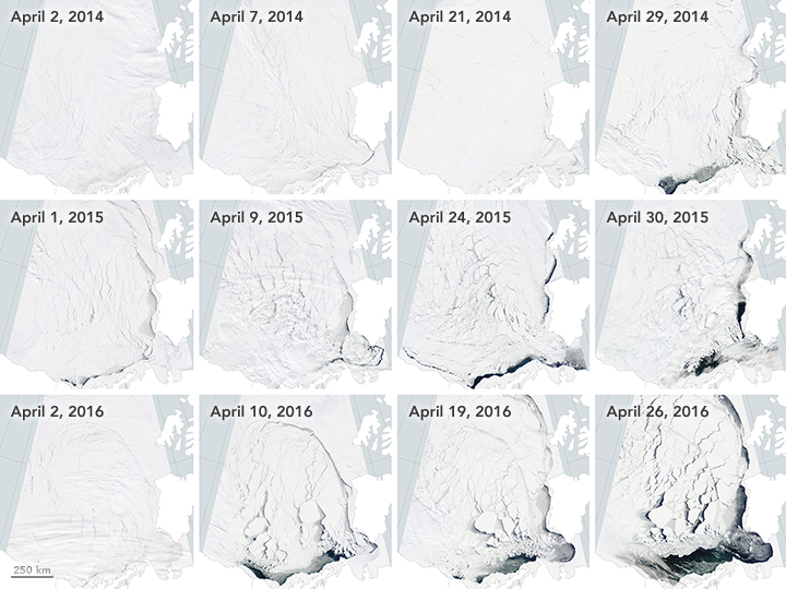 Early Breakup of the Beaufort Sea Ice