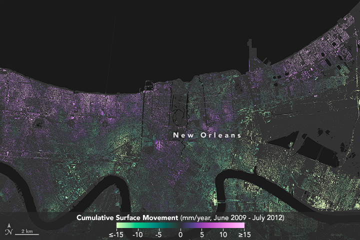 Scientists Improve Maps of Subsidence in New Orleans - related image preview