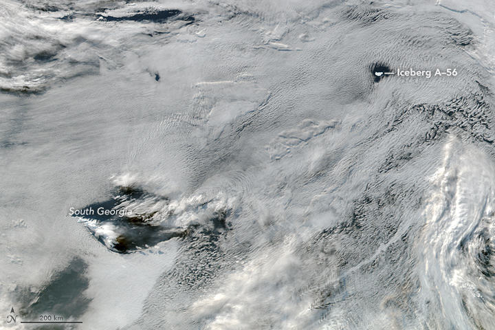 Clouds Frame Iceberg A-56