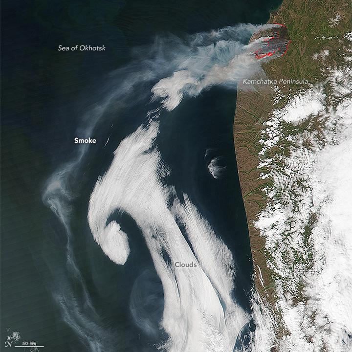 Wildfire on the Kamchatka Peninsula