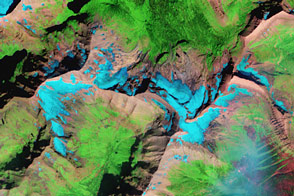 Glacial Change in Montana's Blackfoot-Jackson Basin - selected image